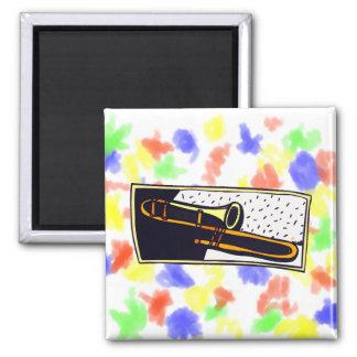 Trombone Dark Background Graphic Design Magnet
