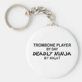 Trombone Deadly Ninja by Night Key Ring