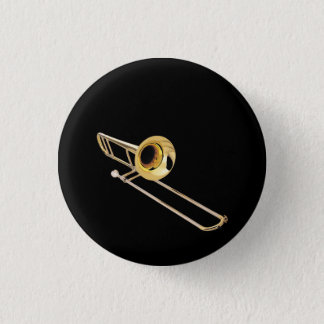"""""""Trombone"""" design gifts and products 3 Cm Round Badge"""