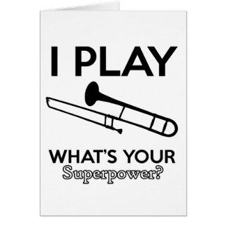 trombone designs card