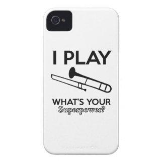 trombone designs Case-Mate iPhone 4 cases