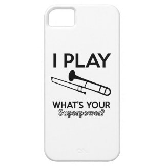 trombone designs iPhone 5 case