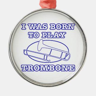 trombone Designs Metal Ornament