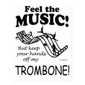 Trombone Feel The Music Postcard