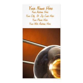Trombone Image Custom Photo Card