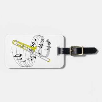 Trombone Luggage Tag
