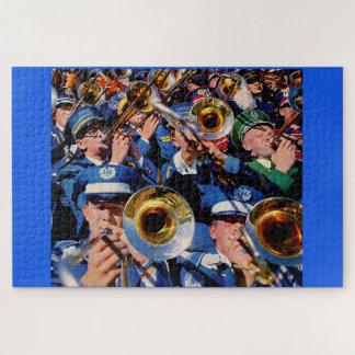 trombone mob AKA band geeks gone wild Jigsaw Puzzle