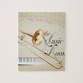 Trombone Music Room Jigsaw Puzzle