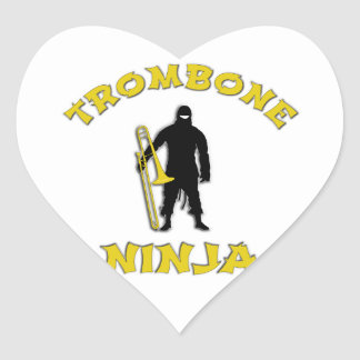 Trombone Ninja Heart Sticker