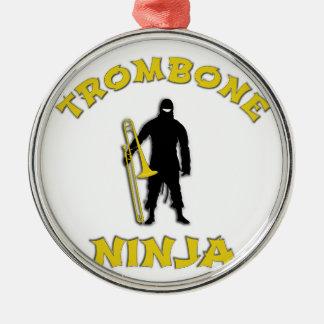 Trombone Ninja Metal Ornament
