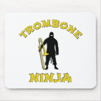 Trombone Ninja Mouse Pad