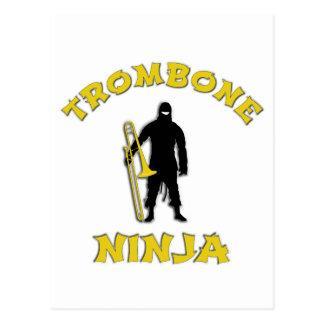 Trombone Ninja Postcard