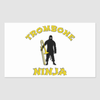 Trombone Ninja Rectangular Sticker