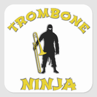 Trombone Ninja Square Sticker