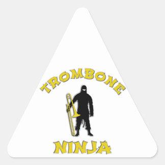 Trombone Ninja Triangle Sticker