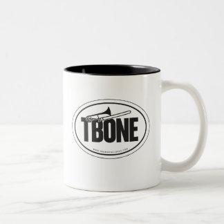 Trombone oval-sticker mug
