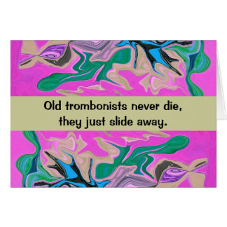trombone player humor card