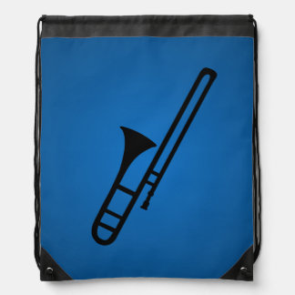 Trombone  silhouette cartoon Backpack
