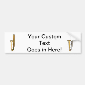 trombone upright graphic bumper sticker