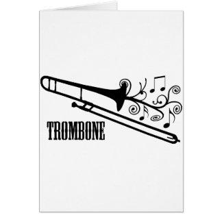 Trombone Vector Design Card