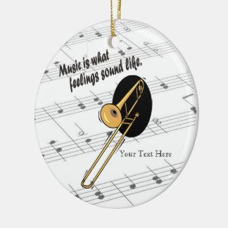 Trombone Version - What Feelings Sound Like Round Ceramic Decoration