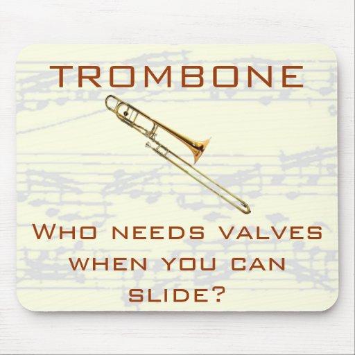 Trombone:  Who needs valves?  Mousepad