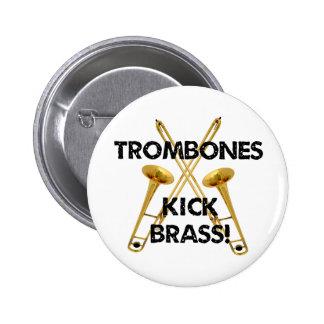 Trombones Kick Brass Pinback Buttons