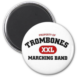 Trombones marching band refrigerator magnets