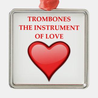 TROMBONES METAL ORNAMENT