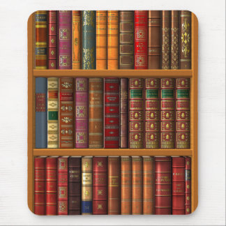 "Trompe l'oeil ""French library"". Mouse Pad"