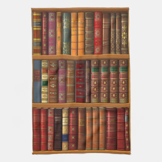 """Trompe l'oeil """"French library"""". Tea Towel"""