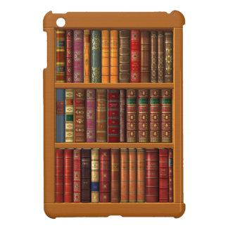 Trompe l'oeil of a library of classical books iPad mini covers