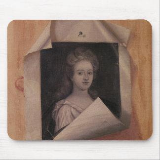 Trompe l'Oeil Portrait of a Lady Mouse Pad