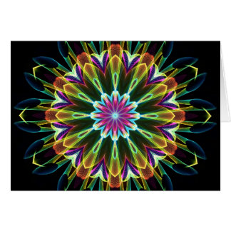 Trompet Flower kaleidoscope Card