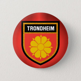 Trondheim  Flag 6 Cm Round Badge