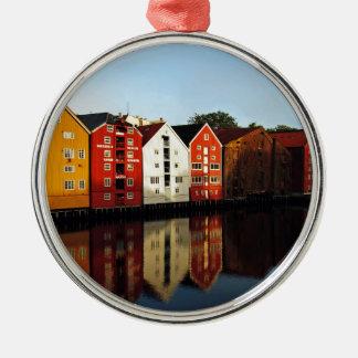 Trondheim in Norway Metal Ornament