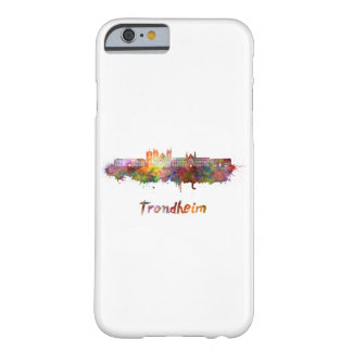 Trondheim skyline in watercolor barely there iPhone 6 case
