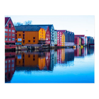Trondheim waterfront, Norway Postcard