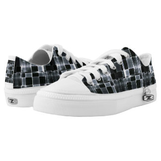 TRONG BLACK METALIZED LOW TOPS