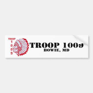 Troop 1009 Bumpersticker Bumper Sticker