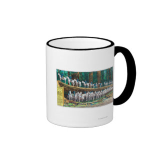 Troop I on and in front of Fallen Giant Mug