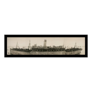 Troop Ship Mongolia Photo 1919 Poster