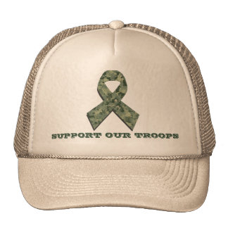 Troop Support Camouflage Ribbon Hat