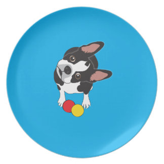 Trooper the Boston Terrier Party Plate