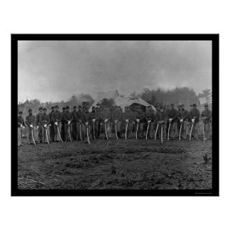 Troopers with Sabers at Brandy Station, VA 1864 Poster