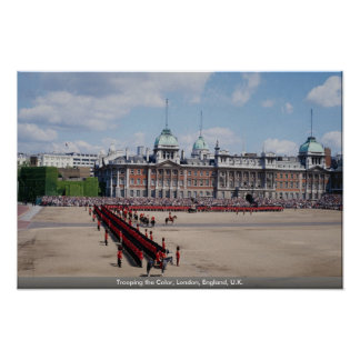 Trooping the Color, London, England, U.K. Poster