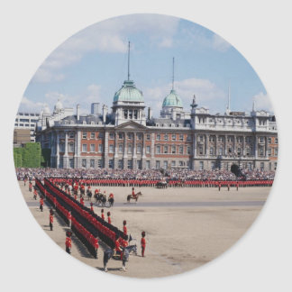Trooping the Color London England U K Round Stickers
