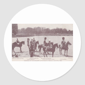 Trooping the Colour 1903 1 Round Sticker