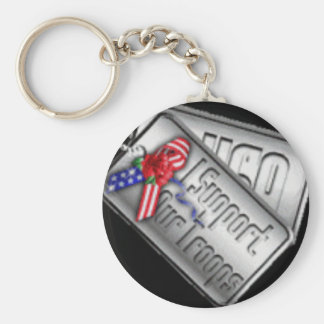 troops basic round button key ring