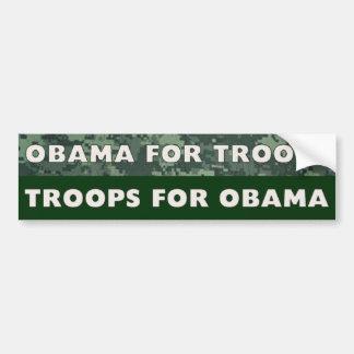 Troops for Obama Bumper Sticker
